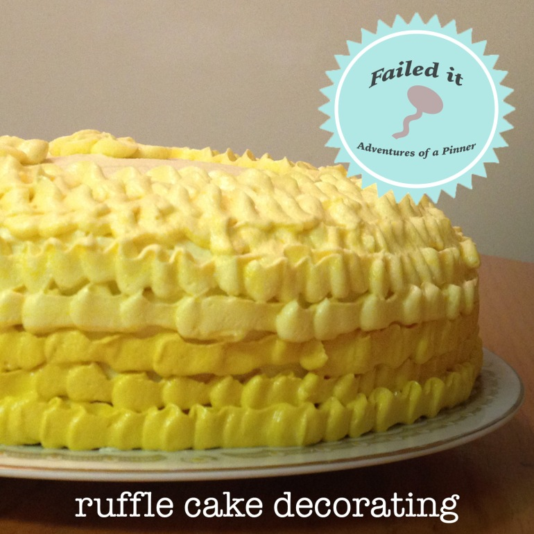 Ruffle Cake Decorating by Adventures of a Pinner Blog