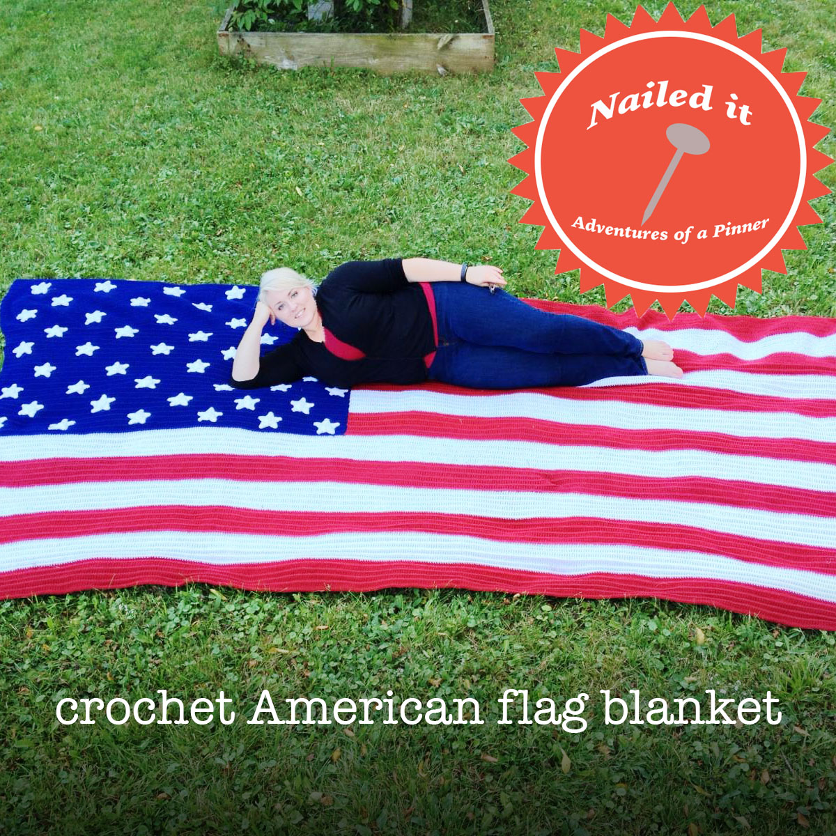 Crochet American Flag Blanket by Adventures of a Pinner Blog
