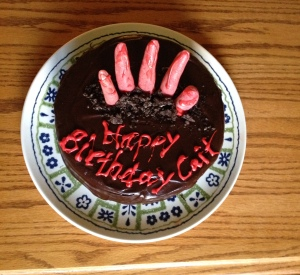 Walking Dead Birthday Party - Zombie Birthday Cake l Adventures of a Pinner Blog