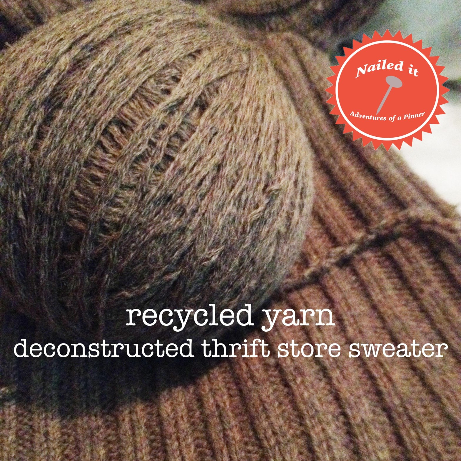 Recycled Yarn. Deconstructed thrift store sweater by Adventures of a Pinner Blog