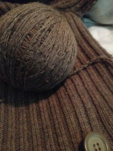 Adventures of a Pinner Blog - recycled yarn, deconstructed thrift store sweater