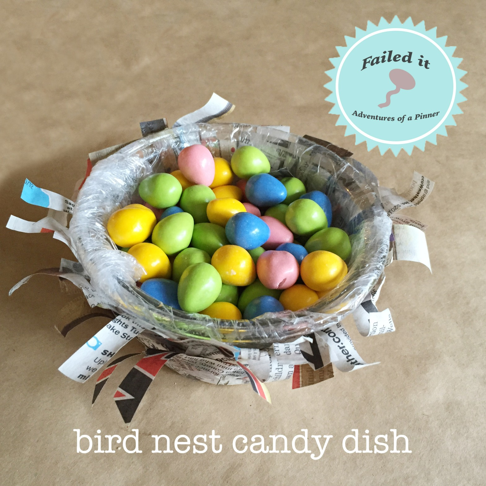 Bird Nest Candy Dish for Easter by Adventures of a Pinner