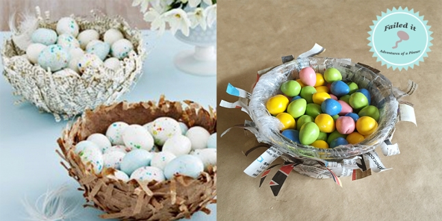 bird nest candy dish