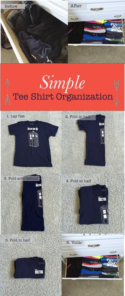 organize tee shirts