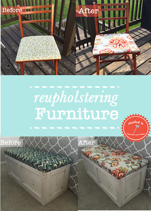 reupholstering furniture by Adventures of a Pinner Blog