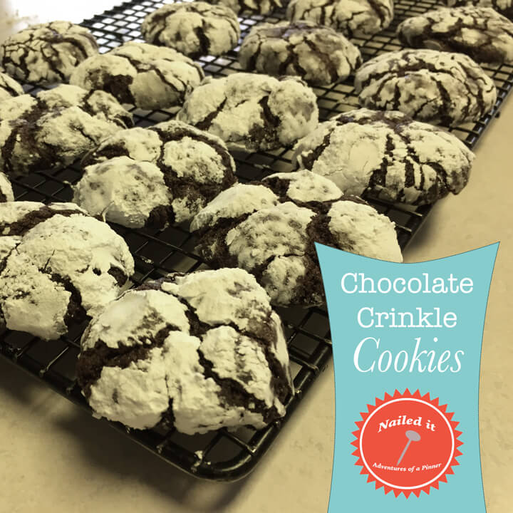 Chocolate Crinkle Cookie Recipe by Adventures of a Pinner Blog