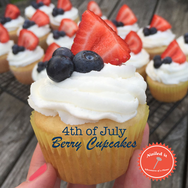 July 4 Cupcakes by adventures of a pinner blog