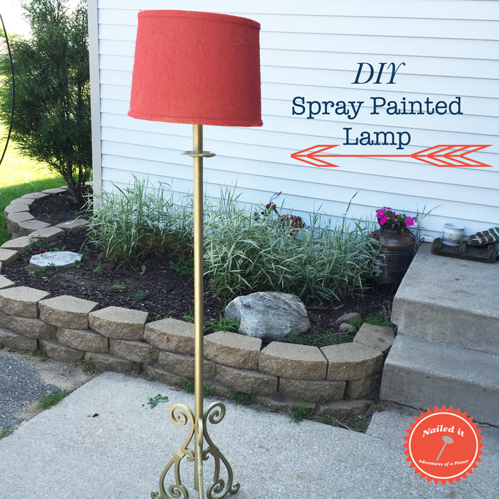 Spray Paint Lamp and Lamp Shade by Adventures of a Pinner Blog
