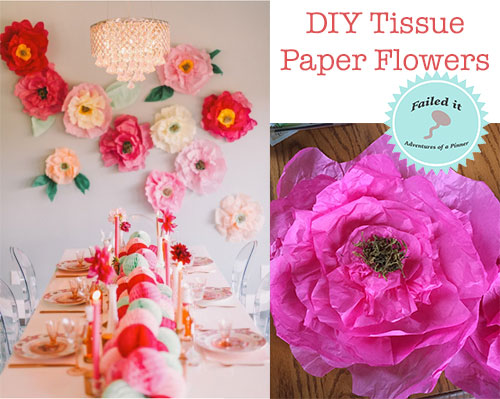 DIY TIssue Paper Flowers Fail by Adventures of a Pinner Blog