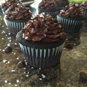 Sea Salt Dark Chocolate Cupcakes on Adventures of a Pinner Blog