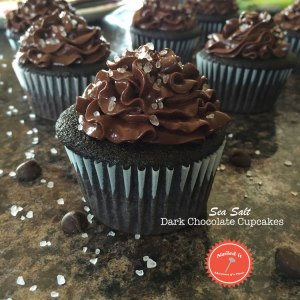 Sea Salt Dark Chocolate Cupcakes by Adventures of a Pinner Blog