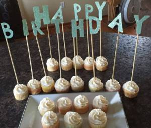 DIY Happy Birthday Glitter Sign by Adventures of a Pinner Blog
